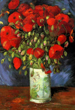 Vincent Van Gogh Vase with Red Poppies Art Print Poster Masterprint