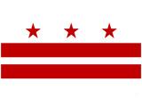 Washington DC Flag Poster Print Kunstdrucke