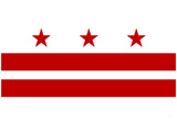 Washington DC Flag Poster Print Prints