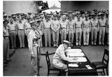 Surrender Ceremonies on the USS Missouri (Japan Surrender) Art Poster Print Print