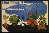 Rural Electrification Administration (Grow It Yourself, Farm Garden) Art Poster Print Kunstdrucke