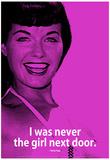 Bettie Page Girl Next Door iNspire Quote Poster Posters