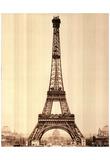 2 Bettmann Eiffel Tower Construction Poster Posters
