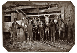 Mine Drivers and Trapper 1908 Archival Photo Poster Print Plakaty