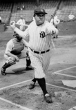 Babe Ruth Batting Archival Photo Sports Poster Masterprint