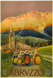 Abruzzo Vintage Ad Poster Print Posters