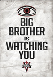 Big Brother is Watching You 1984 INGSOC Political Poster Posters