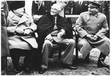 Leaders of World War 2 (Winston Churchill, Franklin Roosevelt, Stalin) Archival Photo Poster Posters