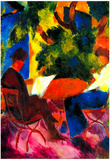 August Macke Couple at the Garden Table Art Print Poster Posters