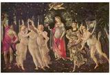 Sandro Botticelli (Spring (Primavera)) Art Poster Print Prints