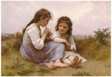 William-Adolphe Bouguereau A Childhood Idyll 1900 Art Print Poster Posters