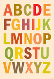 Alphabet (List) Art Poster Print Masterprint