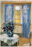 Anna Ancher Blue Clematis in the Studio of the Artist Art Print Poster Poster