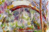Paul Cezanne River at the Bridge of Three Sources Art Print Poster Masterprint
