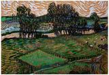 Vincent Van Gogh Landscape with Bridge across the Oise Art Print Poster Foto
