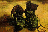 Vincent Van Gogh Still Life with a pair of shoes Art Poster Print Masterprint