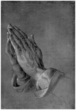 """Albrecht Durer (Study on the """"Heller-Altar"""": hands of an apostle) Art Poster Print Poster"""