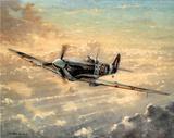 RAF Spitfire WW II Art Print POSTER Battle Britain UK Reprodukcje