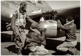 Tuskegee Airmen with Plane Archival Photo Poster Prints