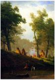 Albert Bierstadt Wolf River Kansas Art Print Poster Photo