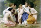 William-Adolphe Bouguereau Admiration Art Print Poster Photo