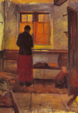 Anna Ancher Girl in the kitchen [2] Art Print Poster Masterprint