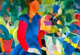 August Macke Girls with Fish Bell Art Print Poster Masterprint