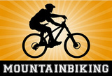 Mountain Biking Orange Sports Poster Print Masterprint