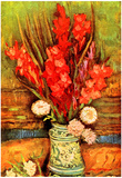 Vincent Van Gogh Still Life with Red Gladiolas Art Print Poster Posters