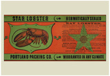 Star Lobster Portland Packing Co Vintage Ad Poster Print Print