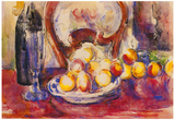 Paul Cezanne Still Life with Apples Bottle and Back of a Chair Art Print Poster Poster
