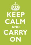 Keep Calm and Carry On Kiwi Art Print Poster Masterprint