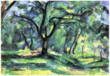 Paul Cezanne (Woodland) Art Poster Print Photo