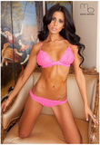 Brianna Martinez Pink Lingerie Photograph Poster Print by Mario Brown Posters