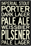 Beer Types and Styles Art Print Poster Plakater