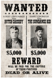 Butch Cassidy and The Sundance Kid Wanted Advertisement Print Poster Plakát