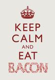 Keep Calm and Eat Bacon Art Poster Print Masterprint