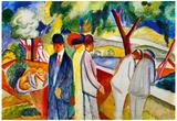 August Macke Large Bright Walk Art Print Poster Photo