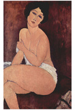 Amadeo Modigliani (Seated Nude on a Sofa) Art Poster Print Prints