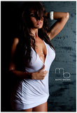 April Gutierrez T-Shirt Sexy Photo Poster by Mario Brown Print