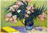 Vincent Van Gogh Still Life with Oleanders Art Print Poster Poster
