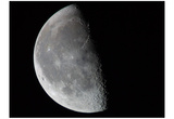 Moon (Half Full, From Space) Art Poster Print Poster