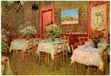 Vincent Van Gogh Interior of a Restaurant Art Print Poster Posters