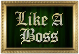 Like A Boss Faux Frame Humor Poster Posters