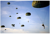 Paratroopers (Many in Sky) Art Poster Print Print