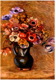 Pierre Auguste Renoir Still Life with Anemones Art Print Poster Prints