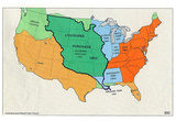 Map of United States (Territorial Growth, 1810) Art Poster Print Photo