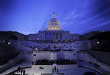 U.S. Capitol Building, Washington D.C. (Preparing for President Barack Obama's Inauguration Rehears Masterprint