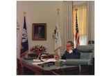President Lyndon B Johnson (On Phone, Color) Art Poster Print Posters