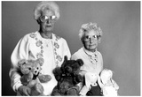 Old Women with Teddy Bears Archival Photo Poster Prints
